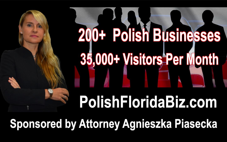 BEZPŁATNE polskie katalogi firm sponsorowane przez adwokata Agnieszkę Piasecką. FREE Polish Business Directories Sponsored by Attorney Agnieszka Aga Piasecka. New Port Richey