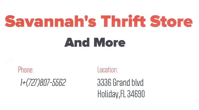 Savannah's Thrift Store and More, Polski Sklep, Holiday, Florida, Floryda, Arleta Lorenc, Savannah's Thrift Store
